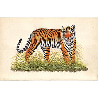 Royal Bengal Tiger Painting Handmade Watercolor