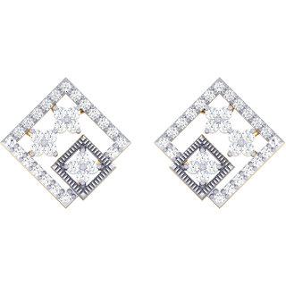 b9c5ffa82f2ea4 Pooja Sonam 925 Silver CZ Diamond Earrings