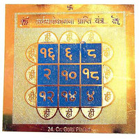 Sarva Manokamna Prapti Yantra With Free Five Mukhi Rudraksha
