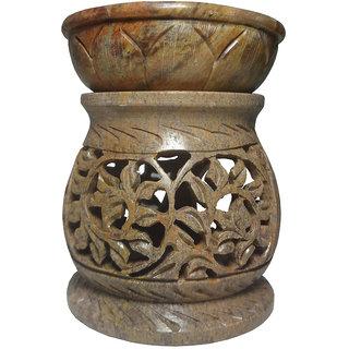 Avinash Handicrafts Stone Aroma Diffuser (Matki Shape) 10 cm
