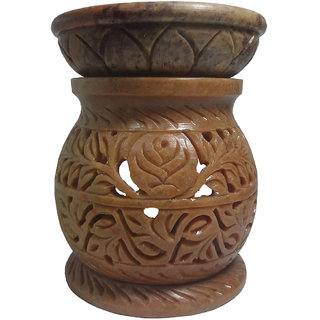 Avinash Handicrafts Stone Aroma Diffuser (Matki Shape) 11.5 cm