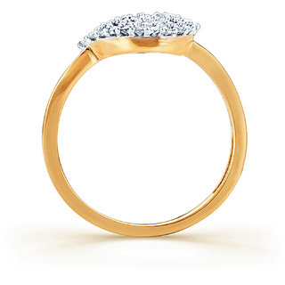Karatcraft.In Golden Ribbon Diamond Gold Ring.