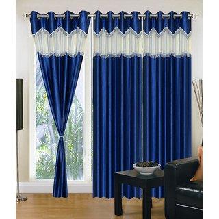 PHF 3 pc set Blue crush window curtains