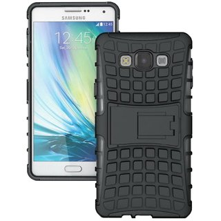 Feomy Kick Stand Armor Hybrid Bumper Cover For Samsung Galaxy A7 -Black