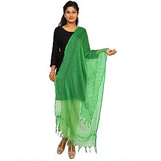 Kataan Bazaar Green Viscose Dupatta