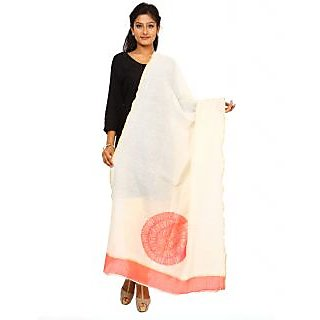 Kataan Bazaar Ghost White Cotton Silk Dupatta