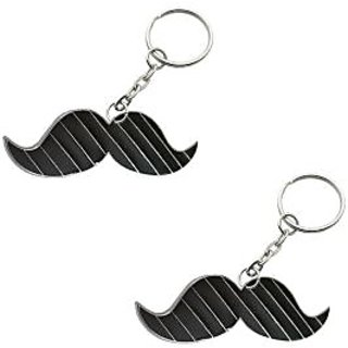 Mustache Keyring - Set of Two