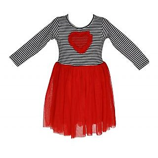 Chipchop Red Applique Evening western Dress for Girls