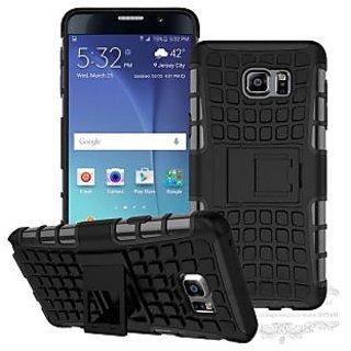 Feomy Kick Stand Armor Hybrid Bumper Cover For Samsung Galaxy Note 5 Edge -Black