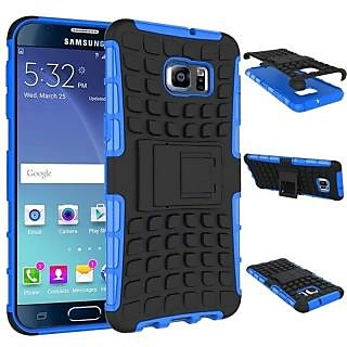 Feomy Kick Stand Armor Hybrid Bumper Cover For Samsung Galaxy Note 5 Edge -Blue