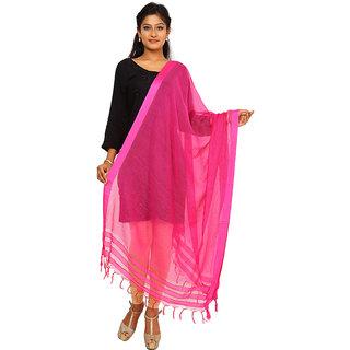 Kataan Bazaar Pink Viscose Dupatta