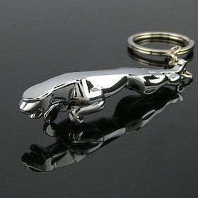 Jaguar Silver Metallic Keychain - Set Of 1