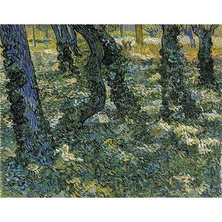 Vitalwalls Undergrowth Canvas Art Print Landscape-472-30Cm