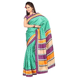 Kajal Casual Wonderful Turquoise Printed Saree