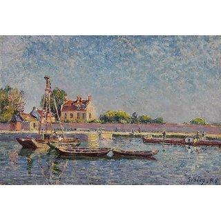 Vitalwalls Landscape Canvas Art Print On Pure Wooden Framelandscape-465-F-45Cm