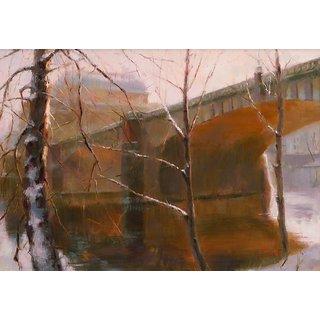Vitalwalls Landscape Canvas Art Print On Pure Wooden Framelandscape-488-F-30Cm
