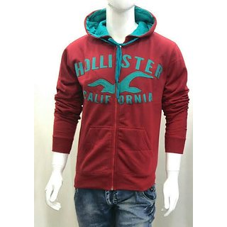 RED AND GRAY HOODIE/ZIPPER