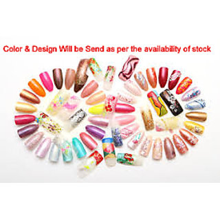 Get 12 Designer Artificial Nails With Gum