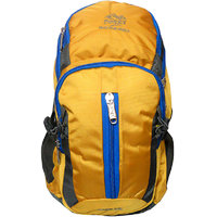 Donex Trendy Stylish 35 L Rucksack with Laptop Compartment Yellow Grey  RSC00754
