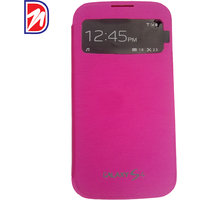 Deemark Samsung Side View Cover for Samsung Galaxy S4 -PINK