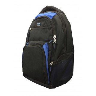 FBI Black-Blue Laptop Backpack/College Bag
