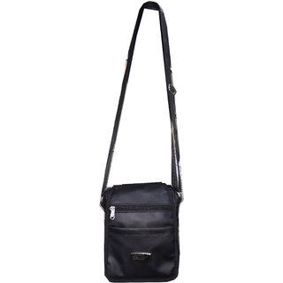 Apnav Black Passport Sling Bag