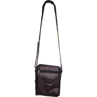 Apnav Brown Passport Sling Bag