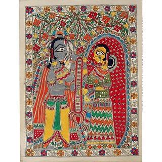 Madhubani Painting of Sita Swayamvar