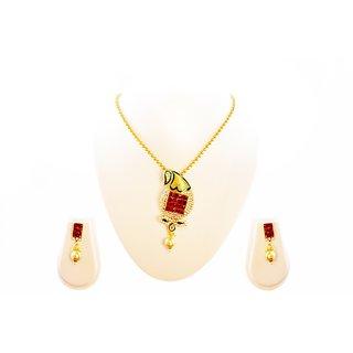 Traditional Antique Design Beautiful Pendant Jewel Set (MJ0118)