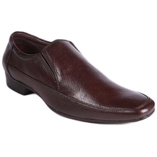 Balujas Brown Formal Slip On Shoes