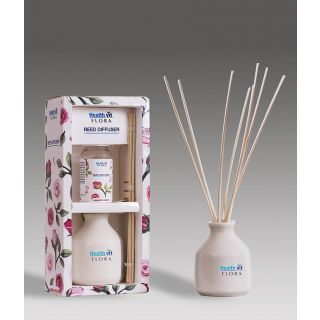 Healthvit Flora Reed Diffuser With Ceramic Pot - Amber Rose Home Fragrance 60ml