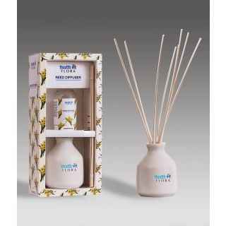 Healthvit Flora Reed Diffuser With Ceramic Pot - Marigold Home Fragrance 60ml