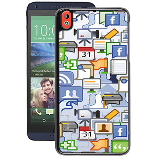 Instyler Digital Printed Back Cover For Htc 820 HTC820DS-10079