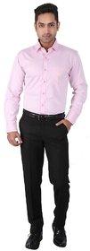 Warewell Mens Regular Fit Rich Cotton Pink Shirt (FS1045-A-40)