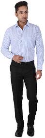 Warewell Mens Regular Fit Rich Cotton Blue Shirt (FS2812-C-40)