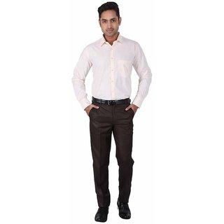Warewell Mens Regular Fit Rich Cotton Yellow Shirt (FS2810-C-40)