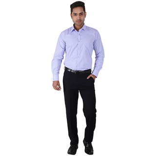 Warewell Mens Regular Fit Rich Cotton Blue Shirt (FS2928-C-40)