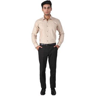 Warewell Mens Slim Fit Pure Cotton Beige Shirt (FS3003-B-40)