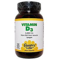 Country Life Vitamin D3 5000 Iu - 200 Softgels