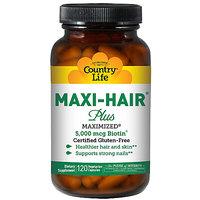 Country Life Maxi-Hair Plus 5000 Mcg - 120 Vegetarian Capsules