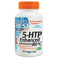 DoctorS Best 5-Htp Enhanced With Vitamins B6 And C -120 Vegetarian Capsules