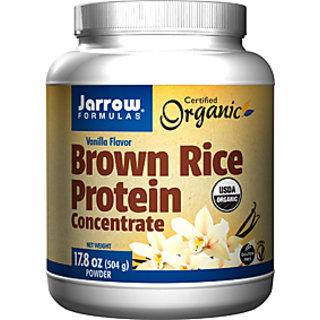 Jarrow Formulas Brown Rice Protein Concentrate Powder (504gm / 1.12lbs, Vanilla)