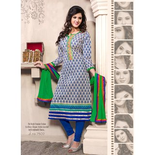 Manvaa Leisure Multi-Color Semi-Cotton Fully Hand Work Dress MaterialMNVKDS7502