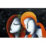 Radha Krishnas - The Eternal Love Art Series Printed Painting