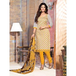 Manvaa Penumbra Grey Chanderi Embroidered Dress MaterialPMNVRNR1701B