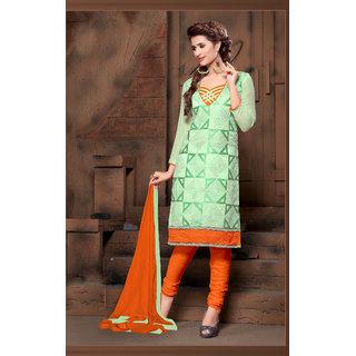 Manvaa Lassitude Green Silk Embroidered Unstitched Straight Salwar SuitPMNVRSL2005