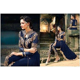 Blue Designer Anarkali Salwar Kameez
