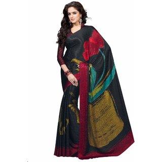 Manvaa Moiety Black Jacquard Designer Printed SareeKR1052