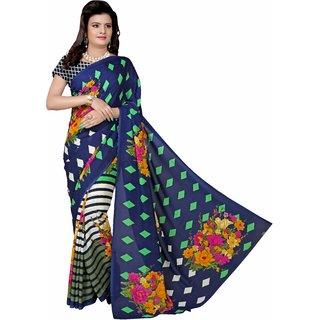 Manvaa Felicity Multicolor Georgette Designer Printed SareePMYR5023