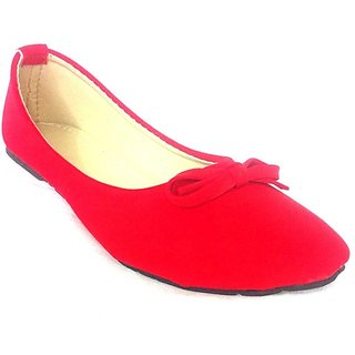 Royal Indian Exposures Red Faux Leather Pointed Toe Ladies Belly